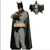 Wholesale Adult Batman costumes Halloween Masequerade superhero cosplay costumes for abult Carrival Christmas costume with plus size