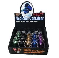 Wholesale Medicine Container Water Proof With Key Ring Aluminium Bottle Per Box Color Packing