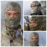 máscaras tácticos de las fuerzas especiales apretado camuflaje Airsoft pasamontañas caza al aire libre Wargames Paintball Sports Proteja cubierta de la cara máscara de ciclismo