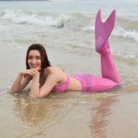 Wholesale Mermaid Tail Sexy Costumes Amazing Princess Mermaid Costumes Swimmable Girls Swimsuit Cosplay for Outdoor Swimming LH