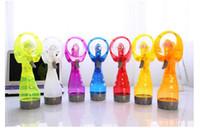 Wholesale Handheld water spray Mini fan beauty rechargeable cooling electric water mist fan Air conditioning fan Portable fan