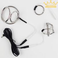 Wholesale Electrosex and Urethral Play Estim Urethral Insert Steel Cock Ring Urethral Sound Catheter Sex Products Sex Toys For Men