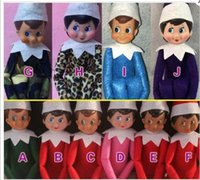 Wholesale 10 Style Christmas Elf Plush toys On The Shelf Elves Xmas dolls With Soft Back Books For Kids Holiday And Christmas Gift