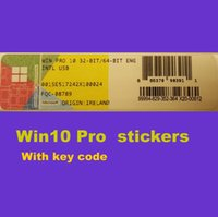 Cheap 2016 brand new win10 pro stickers with key code OEM Online activation 100% work free shipping