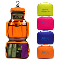 Wholesale Travel portable multifunctional waterproof paragraph of male women s wash makeup storage package cosmetic bag hanging toiletry bag organizer