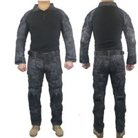 Wholesale Military Tactical Army Uniform With Knee Pads Shirt Pants Suit Clothing Camouflage Sets Outdoor Hunting Combat Camping Uniform