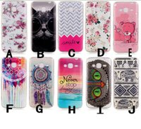 bear sunflower - For Galaxy Note7 Note J3 J310 Wave Smile Flower Soft TPU Case Owl Sink Feather Dreamcatcher Sunflower Sea Bear Elephant Cartoon Gel Skin