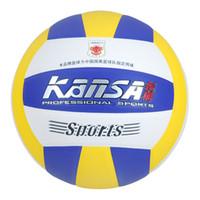 beach volleyball nets - New outdoor Beach volley ball balls PVC offical size volleyball balls Net brand quality volleyball mva stand sales