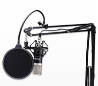Wholesale TOP Microphone Mic Wind Screen Double Layer Studio Pop Filter Swivel Mount Mask Screen Shied For Speaking Recording Mask Shied Windscreen