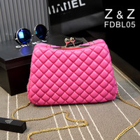 handbags in japan - Diamond Lattice chain handbags Newest Japan and Korean Style PU fashion shoulder Messenger Bag in stock
