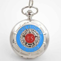 acrylic crystal watch - Cool US silver case pocket watch for mens with chains Hand Winding up Crystals Movement pocket watches for sales
