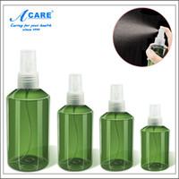 Wholesale SET Dark Green Refillable Bottles For Make Up and Skin Care Portable Empty ml ml ml ml Spray Bottles