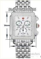 michele watch - Luxury Wrist Stainless steel bracelet Michele Deco Diamond Chronograph Day Date Fully Function Quartz Watch Fashion Women s Dress Watches