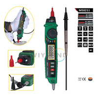 ac current detector - M071 MS8211 Pen type Digital Multimeter with NCV Detector Non contact DC AC Voltage Current Meter Data Hold Multimeter