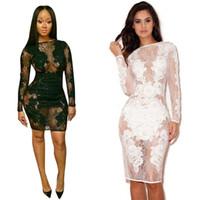 Wholesale 2015 New Women Fashion Pure Color Dress Slash Neck Short Sleeve White Lace Tops Knee Length Bodycon Dress KF659 Plus Size S M L