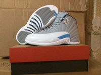 Wholesale Drop Shipping Super Perfect Retro Wolf Grey Blue Flu Game French Blue The Master OVO white Men Basketball Shoes Ship with box