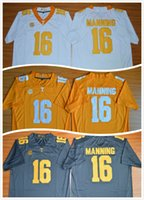 Wholesale Hot New Style Peyton Manning Limited Mens College Football Jersey Cheap Tennessee Volunteers Men Jersey grey size S XXL