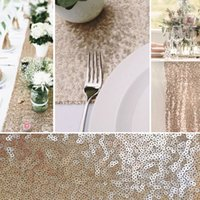 Wholesale Sequin Gold Silver Wedding Table Runners Party Decorations Supply Glittery New fashion Wedding Accessories Custom Made