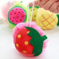 baby bubble bath - Cute Baby Bath Ball Plush Body Cleaning Scrubber Mesh Shower Towel Bubble Sofe Shower Sponges
