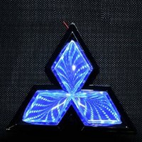 Precio de Luces del coche rojo-Mitsubishi 3D de luz LED azul Logos coche para posterior Rojo Blanco Automóvil Emble Tamaño insignia 7,5 * 8,9 cm