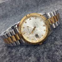 battery chain - 2016 New Fashion Style Man Gold Watch With date Lady Watch Steel Bracelet Chain Luxury Quartz Watch High Quality