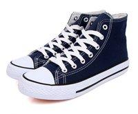 Wholesale 2016 new fashion canvas high top sneakers Women Men Sport Shoes black bottom canvas shoes women RB