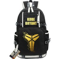 basketball cartoon characters - KOBE BACKPACK luminous bronzing Version basketball bags LOGO computer bag high school students bags
