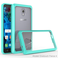 alcatel accessories - For Alcatel One Touch Fierce POP PLUS Allura Metropcs armor case Transparent Clear Hybrid Bumper Shockproof Back Cover Accessories
