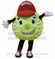 baseball mascot costumes - softball mascot costume for adult high quality Tennis Ball Tenis Ball Baseball Softball Soft ball Baseball theme carnival fancy dress
