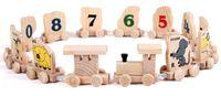 Precio de Trains-Tren animal del zodiaco. Juguetes de madera pista de alfabetización de la primera infancia. Los juguetes educativos de los niños aumentan las manos, los ojos, la coordinación cerebral