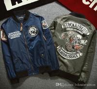 Wholesale Locomotive motorcycle Motocross MA1 bomber Moto Jerseys men Retro skull print windbreaker hip hop baseball jacket Plus Size XXXL