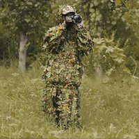 Wholesale Durable Outdoor Camouflage Camo Hunting Shooting Military D Leaf Woodland Jungle Birding Sniper Ghillie Suit Cloa