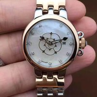 best pearl brands - Woman Luxury Watch Luxury Brand Rose Shape Pearl Dial Hands Top Quality mm Stainless Steel Ladies Watches Best Birthday Gift