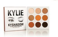 Wholesale 2016 Hot Kylie Kyshadow Pressed Powder Eye Shadow Bronze Palette Kyshadow Kit Creme Shadow Kylie Jenner Cosmetics Colors Eyes Makeup Kit