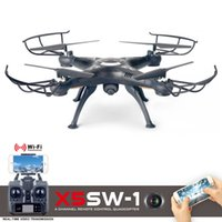 Wholesale Bonus X5SW X5SW WIFI RC Drone fpv Quadcopter with Camera Headless Axis Real Time RC Helicopter Quad copter Toys A5 Black