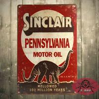 Wholesale OLD RUSTIC VINTAGE LOOK SINCLAIR PENNSYLVANIA MOTOR OIL METAL SIGN