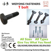 Wholesale T Bolt Clamp DIN186 Carbon Steel Direct marketing Price negotiable galvanization Carbon steel Mature production line Appropriate l