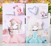 beautiful birthday message - Retail beautiful girl cartoon D greenting cards stereo greeting card message card birthday card