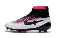 Wholesale Hot original Mercurial Superfly FG Soccer Shoes Ghost cards FG SOCCER Cleats High Ankle Football Boots