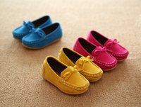 baby stretch suit - New arrival autumn girls children thin shoes baby family shoes flattie princess lovely bowknot shoes moccasin gommino suit T pairs