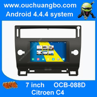 Wholesale Ouchuangbo car dvd gps radio for S160 Citoen C4 car dvd radio with quad core mirror link android