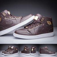 baroque shoes - Retro Basketball Shoes Sports Retro Men Shoes with shoes Box Pinnacle Baroque Brown Croc Metallic Gold Kids shoes