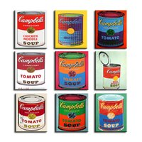 andy warhol soup - andy warhol set campbell s soup can beef oil painting Prints Painting on canvas No frame Pictures Decor For Living Room
