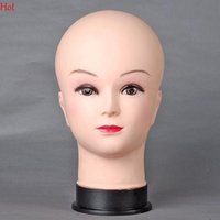 Wholesale Nice Top Pop Female Mannequin Head Model Wig hair Mannequin Manikin Head Model Women Scarf Hats Wig Display Mannequins Nude