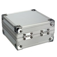Wholesale Minitype Aluminum Portable Carrying Silver Lock Machine Kit Carrying Case durable convenient to carry