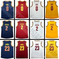 Cheap High Quality 2 Kyrie Irving Jersey 0 Kevin Love Stitched Wholesale cheap 23 Lebron James Jersey S-XXL