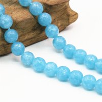 amazonite faceted beads - 8mm Accessories Round Blue Amazonite Jasper Christmas Gifts Stones DIY Jade Jewelry Making Crafts Loose Beads inch Faceted