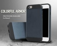 arrival defender - New arrival Slim Colorful Armor mobile phone case for iphone c s shockproof defender back cover for iphone6 plus plus