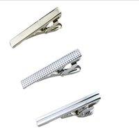 Wholesale new fashion short Silver Men Metal Necktie Tie Bar Mens Chrome Clamp Stainless Steel Plain Skinny Tie Clip Pins Bars
