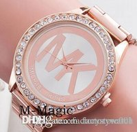 Wholesale Michael Kores MK M K wristwatch watch Stainless Steel Watch Band bracelet top brand luxury replicas Jewelry for men women Smilecn MW02